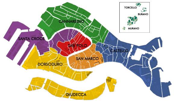 dove dormire venezia mappa