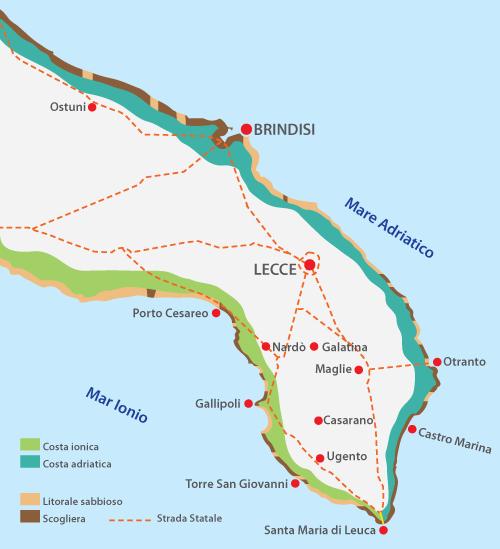 Gallipoli Cartina Puglia.Dove Dormire In Salento Cosa Vedere E Dove Alloggiare